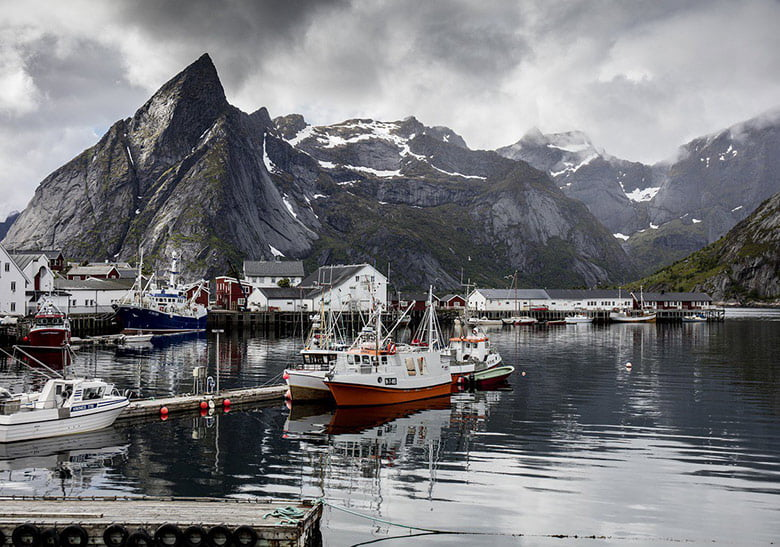 Reine in Lofoten on a chilly day