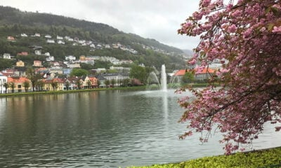 A lake in central Bergen, Norway