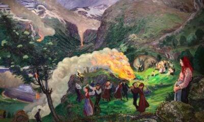 Vivid Nikolai Astrup painting
