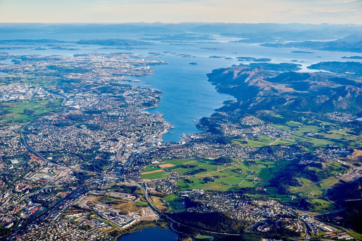 A Norwegian city from above