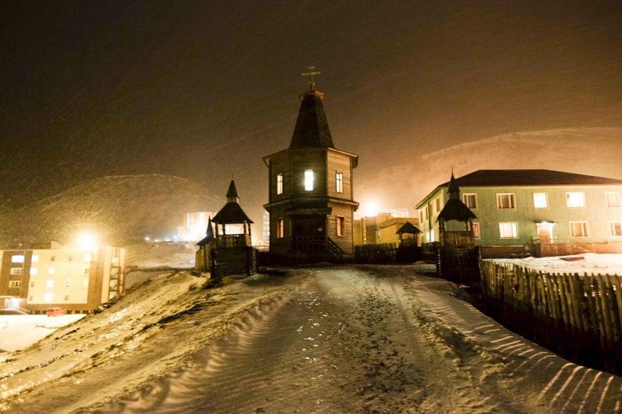 Barentsberg in the winter