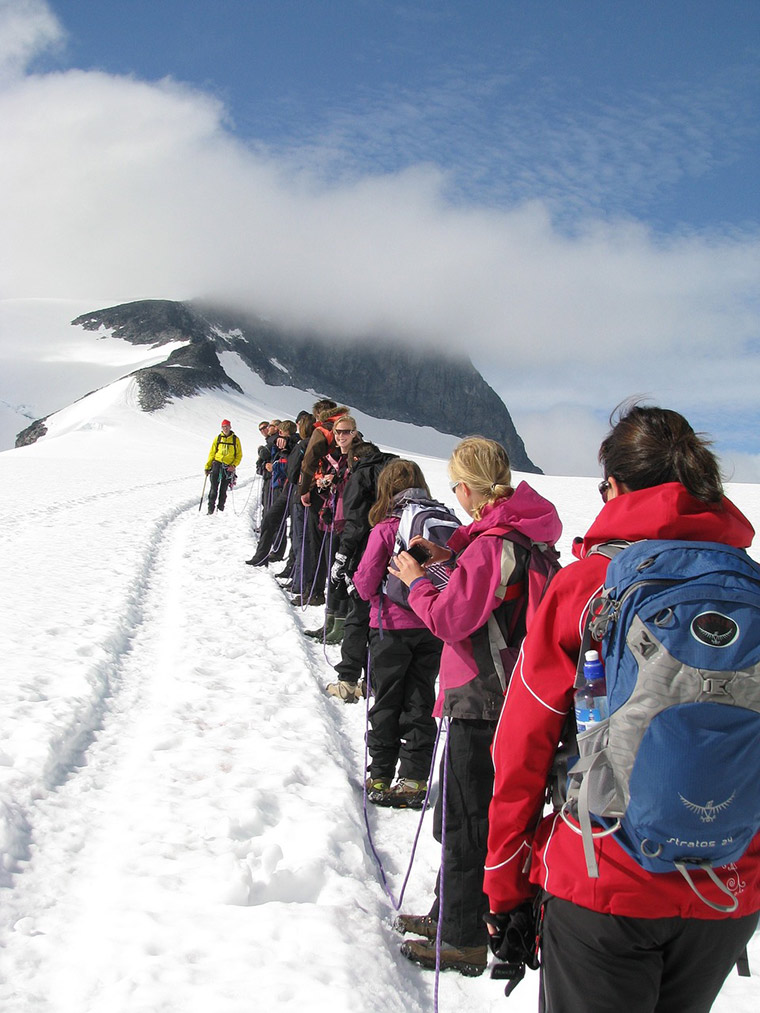 The glacier hike to the summit of Galdhøpiggen, Norway's highest mountain.