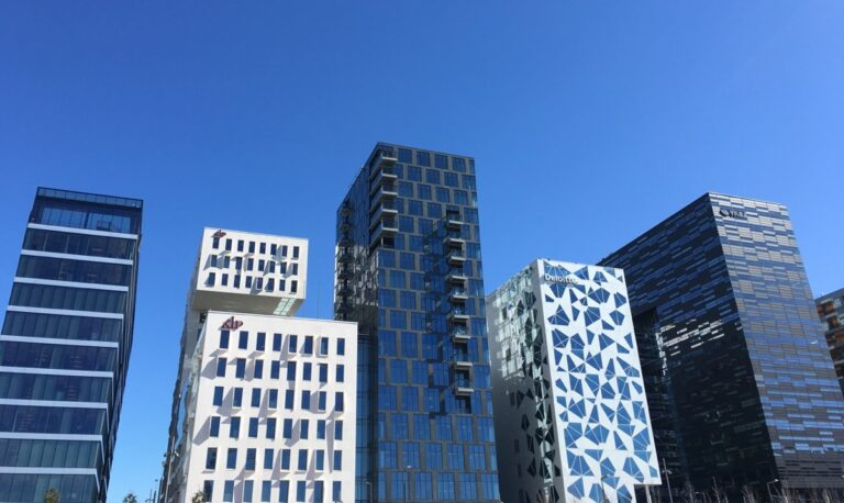 Business district in Oslo