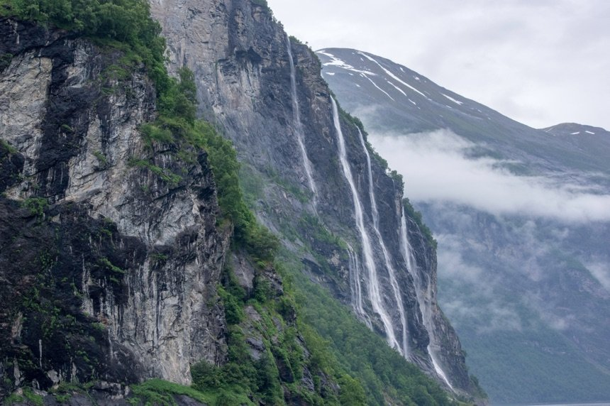 Stunning waterfalls in Norway