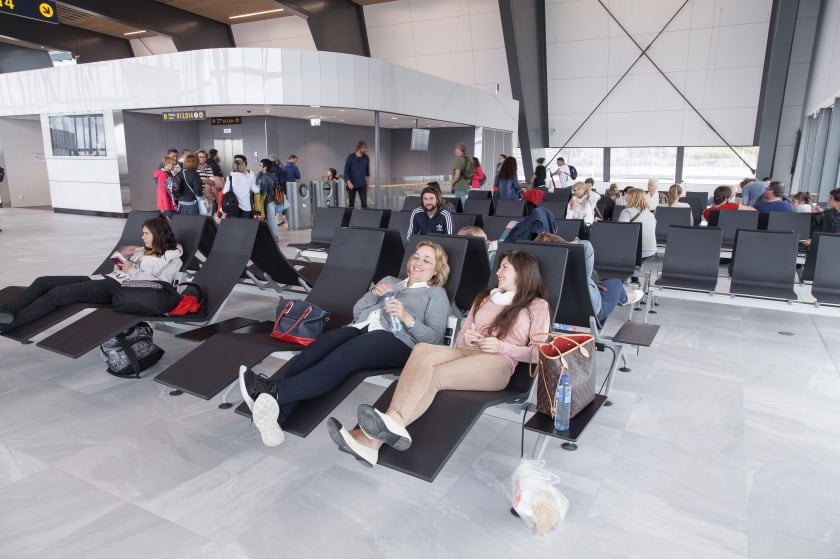 The revamped terminal at Bergen Airport