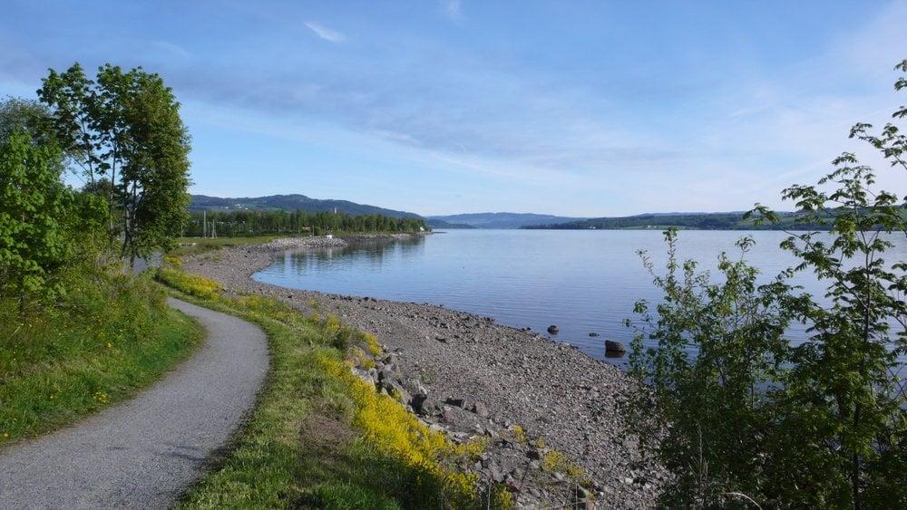 Gjøvik on lake Mjøsa in Norway