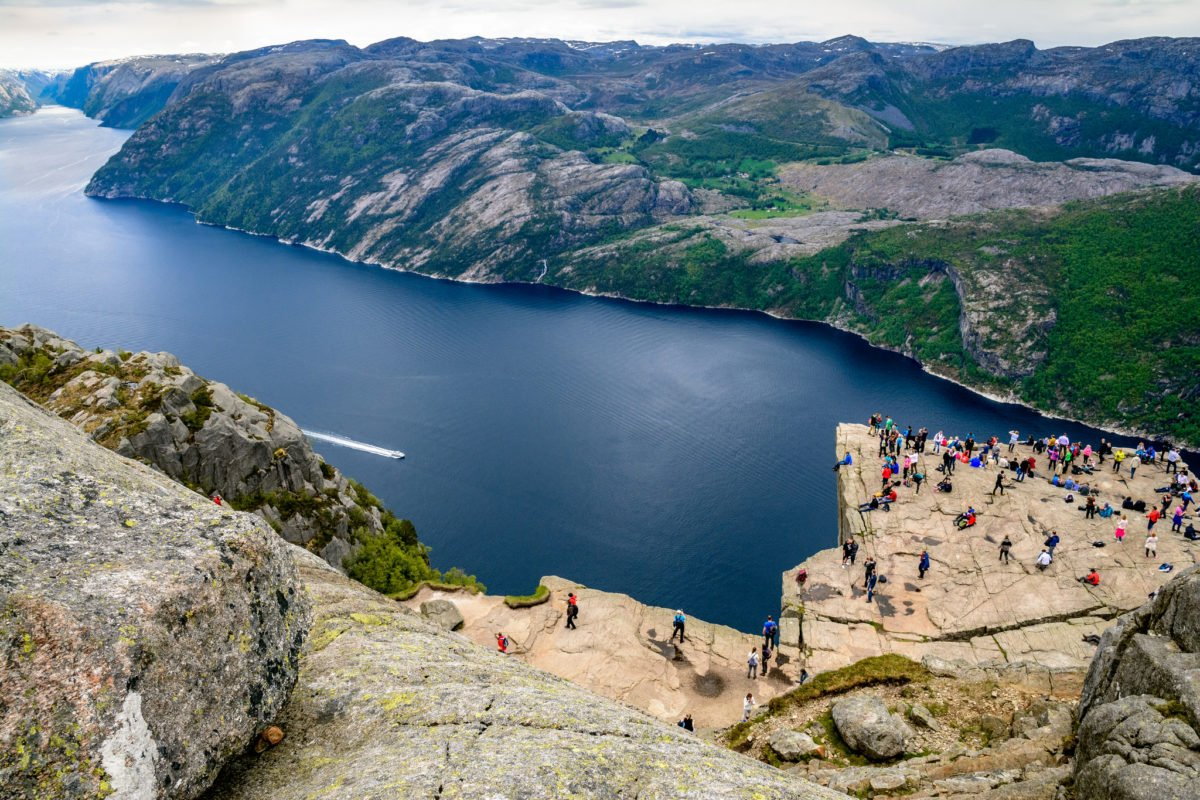Preikestolen from above