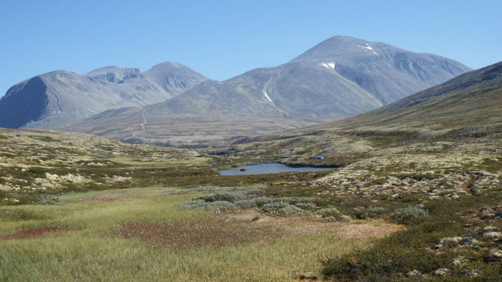 In Rondane national park hiking away from Rondavassbu