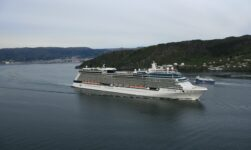 Cruise ship in Bergen