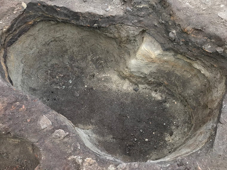 Layers of sand under Trondheim