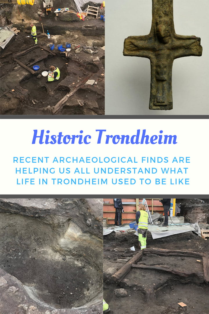 Archaeological finds including remains of a medieval church under the city centre of Trondheim tell us a lot about how people used to live.