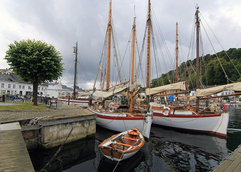 Boats in Risør harbour in southern Norway.