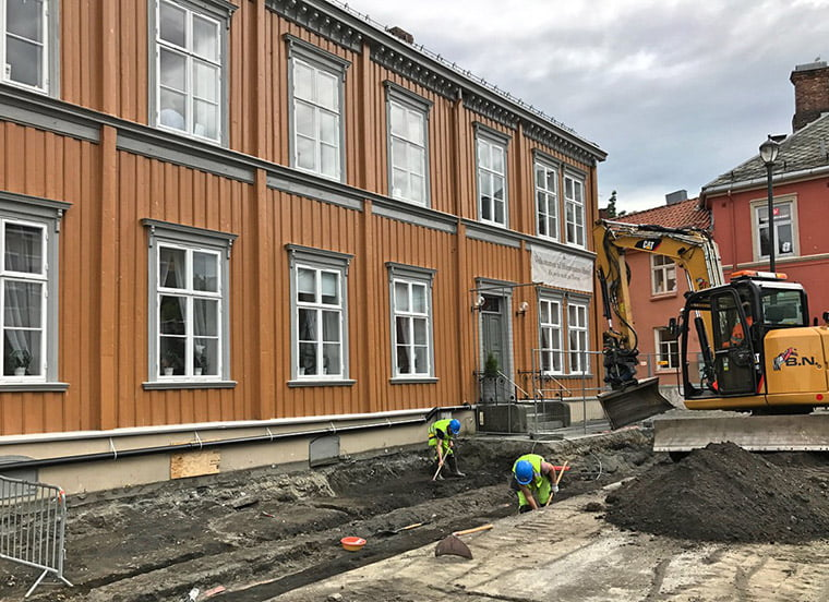 Renovations of Torvet, Trondheim's market square