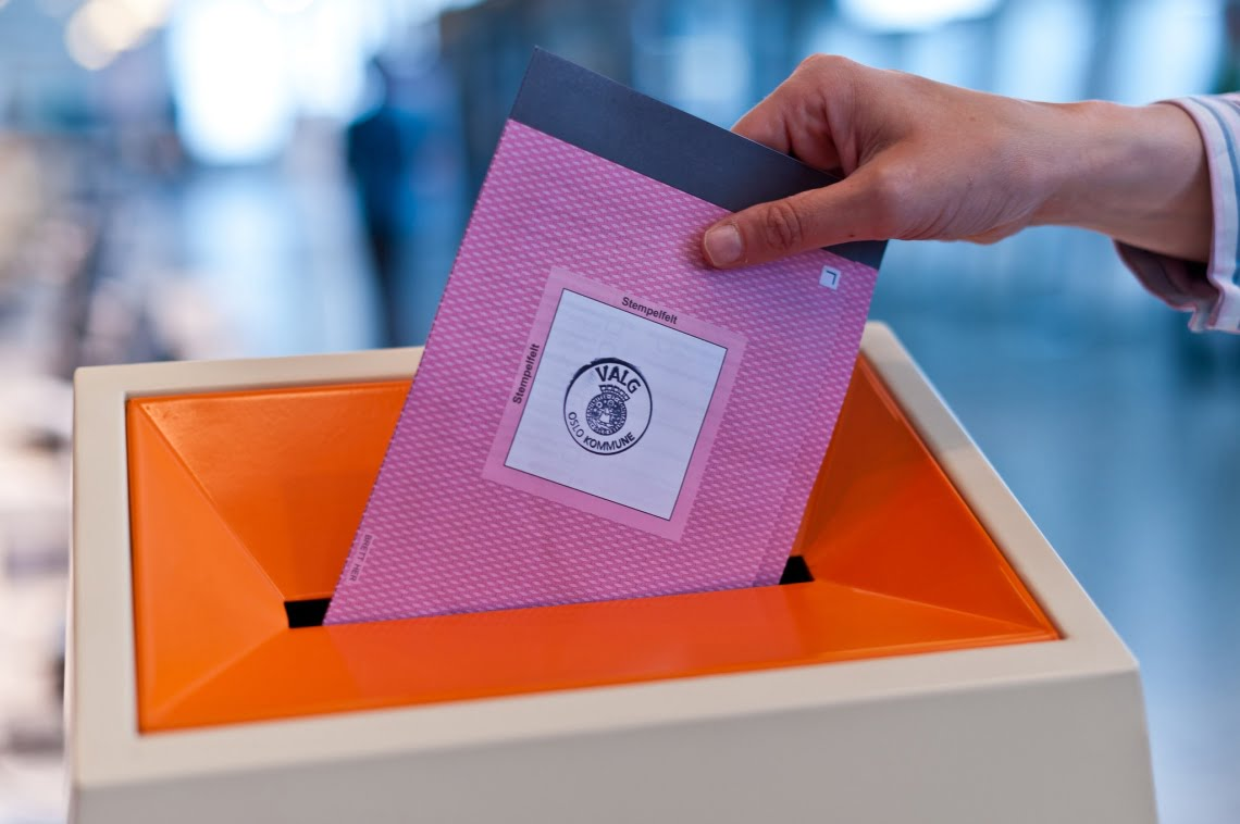 Ballot paper in Norway