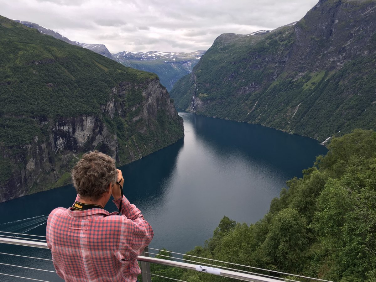 Viewpoint of the famous Geiranger fjord