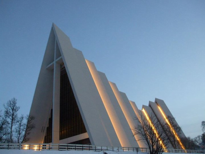 Arctic Cathedral in Winter