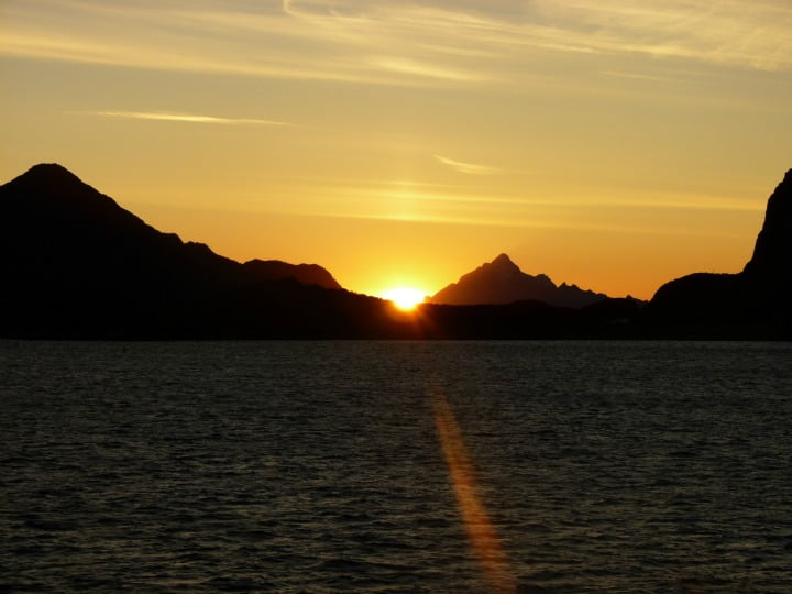 Sunset on Hurtigruten