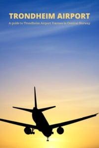 Trondheim Airport Pin