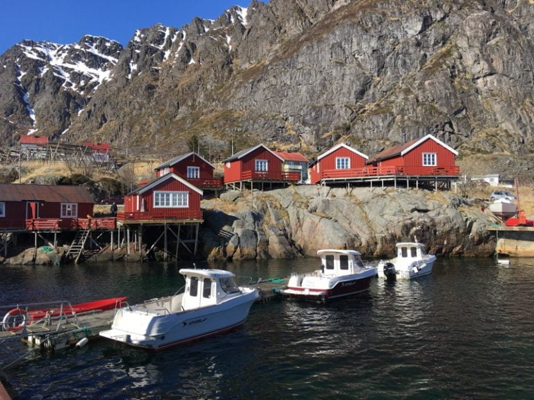 Å in Lofoten, a tiny village at the very end of the archipelago, home to the Fishing Village Museum.