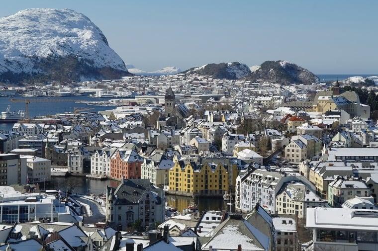 Beautiful Ålesund in the winter