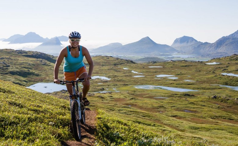 Cycling in northern Norway