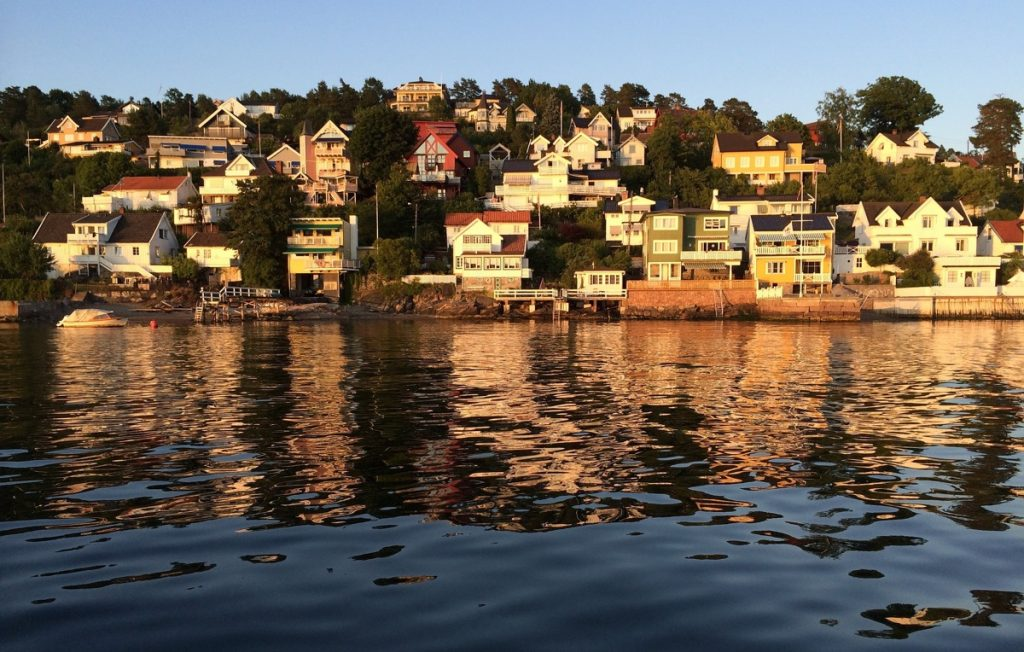 Drøbak from the water