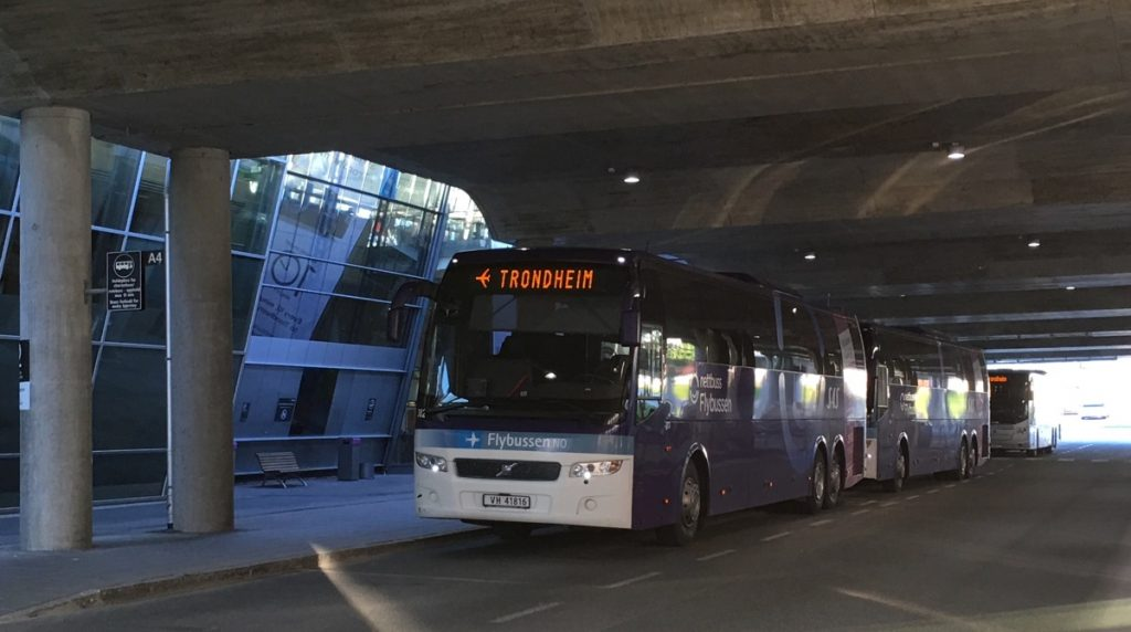 Airport bus in Trondheim