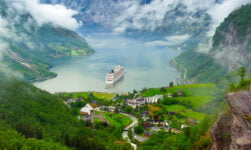 View over the Geirangerfjord in Norway