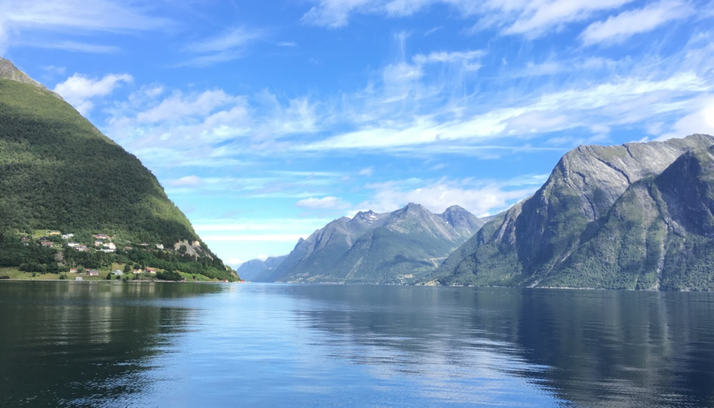 Hjørundfjord in Norway