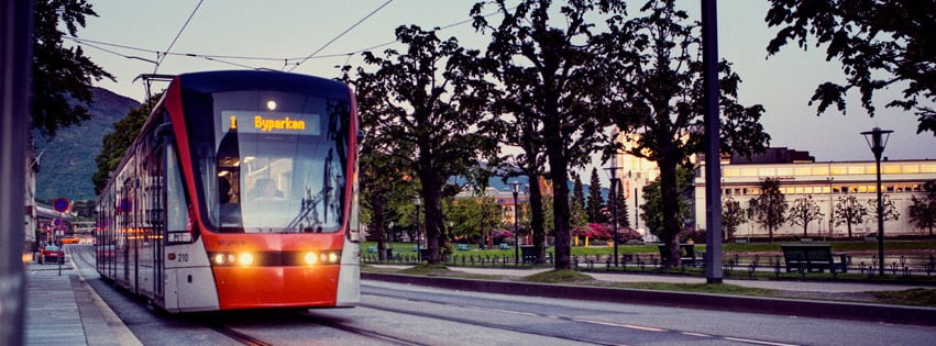 Light rail in Bergen