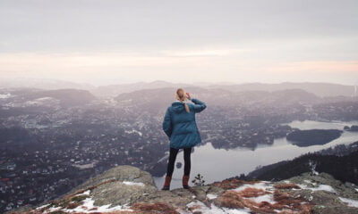The awesome view of Bergen from the Løvstakken hike