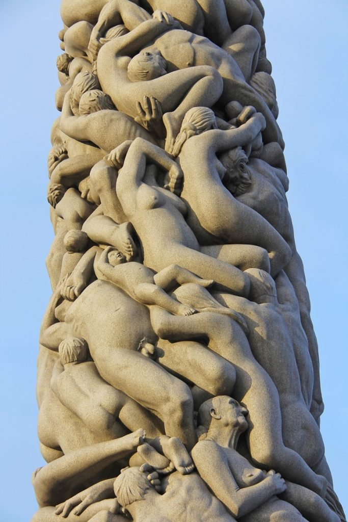 The Monolith at Vigeland Park in Oslo, Norway