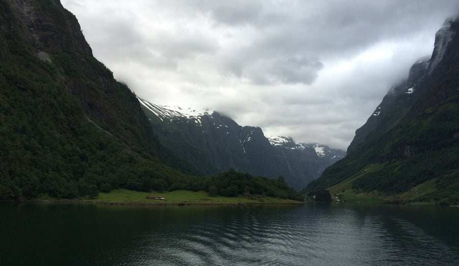 A narrow fjord in Norway