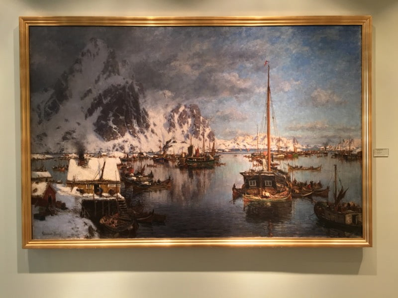 A painting in the Northern Norway Art Museum in Tromsø.