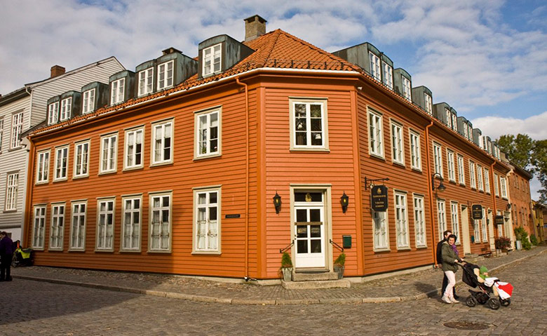 Gamle Fredrikstad, the old town in Fredrikstad, Norway