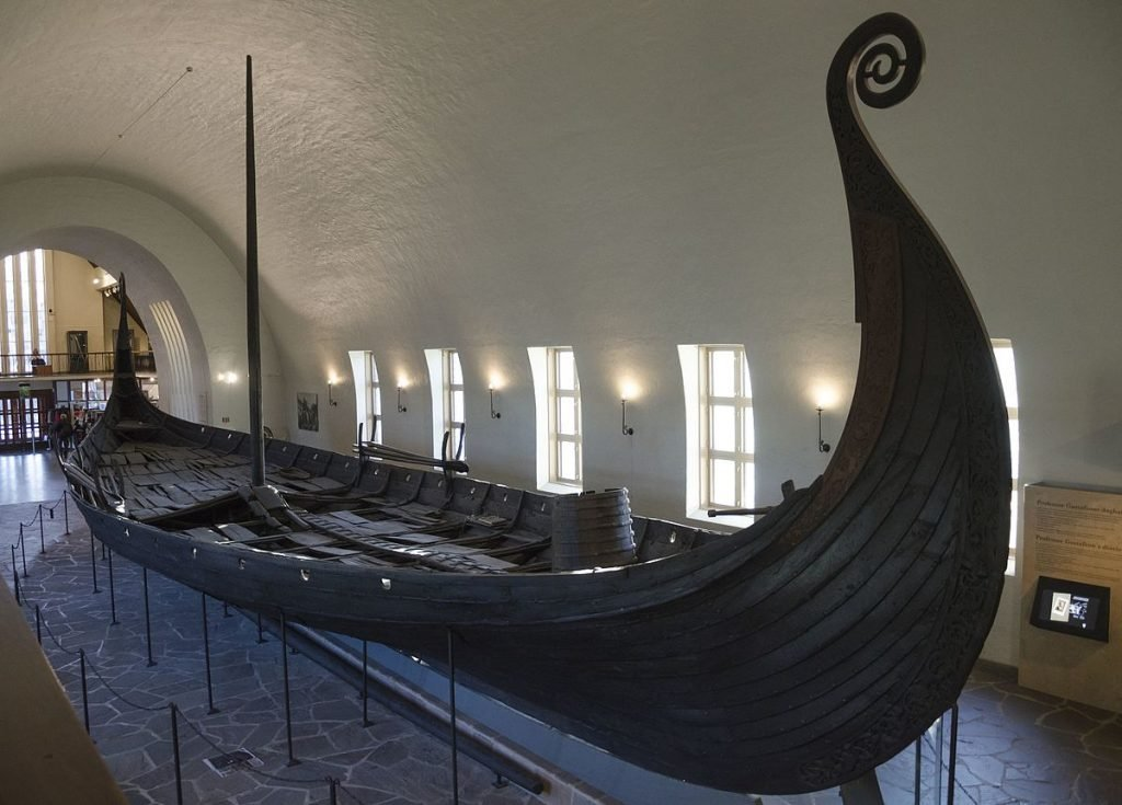 Oseberg Viking Ship in an Oslo museum