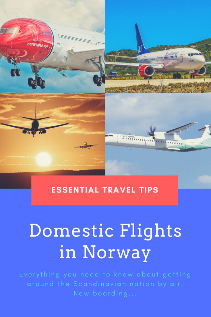 Domestic flights in Norway: How to get around the Scandinavian country quickly.