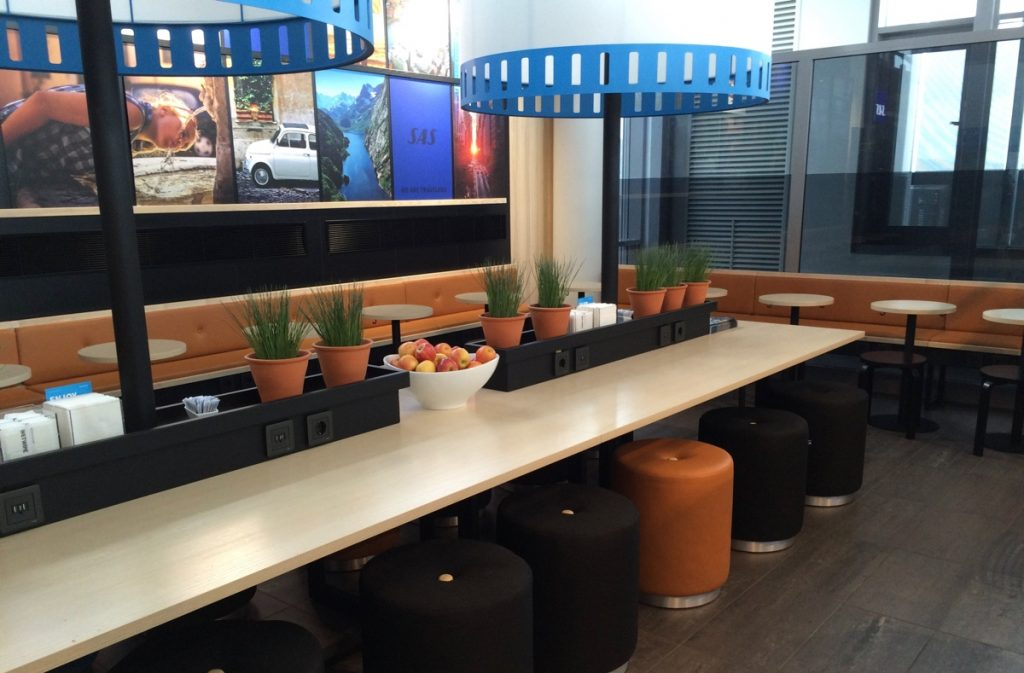 SAS lounge at Trondheim Airport