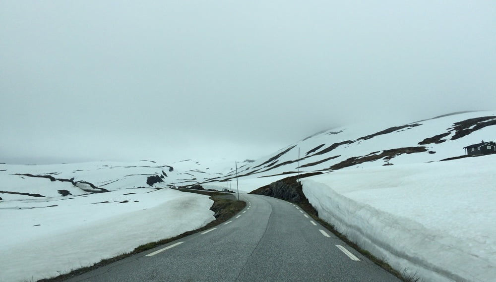 Snow roads in Norway