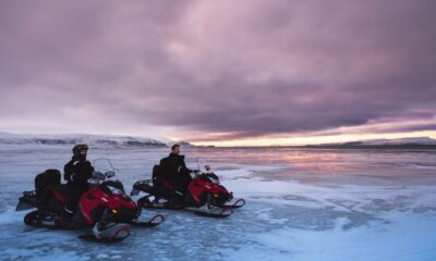 Snowmobiles are a vital mode of transport on Svalbard