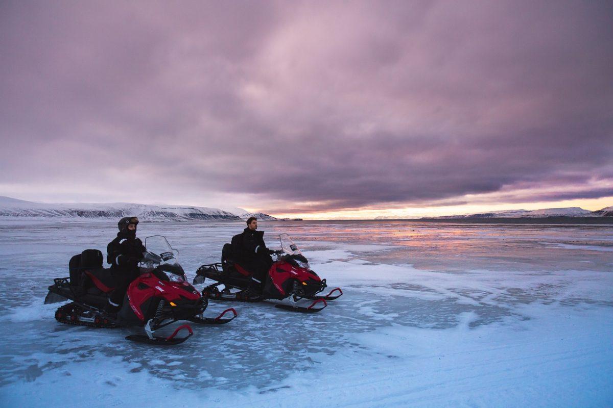 Snowmobiles on Svalbard