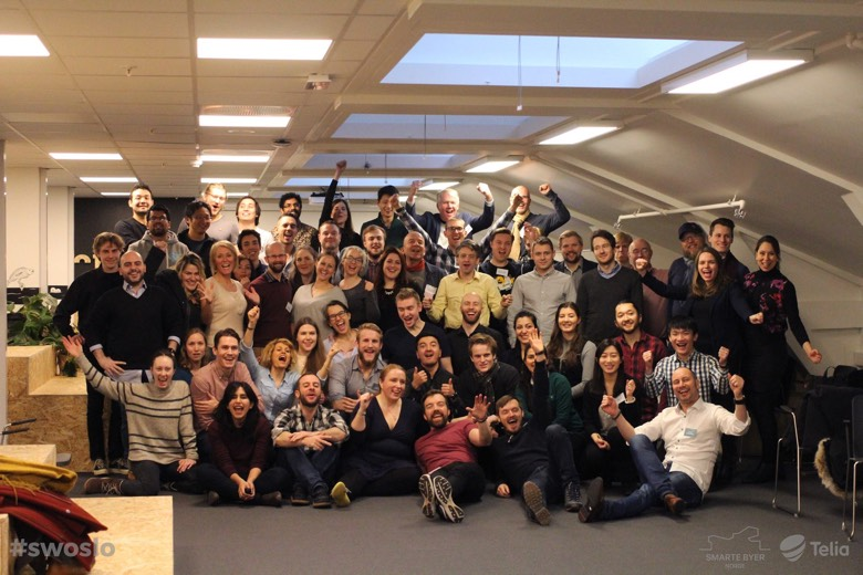Group photo from the February 2017 Startup Weekend Oslo event