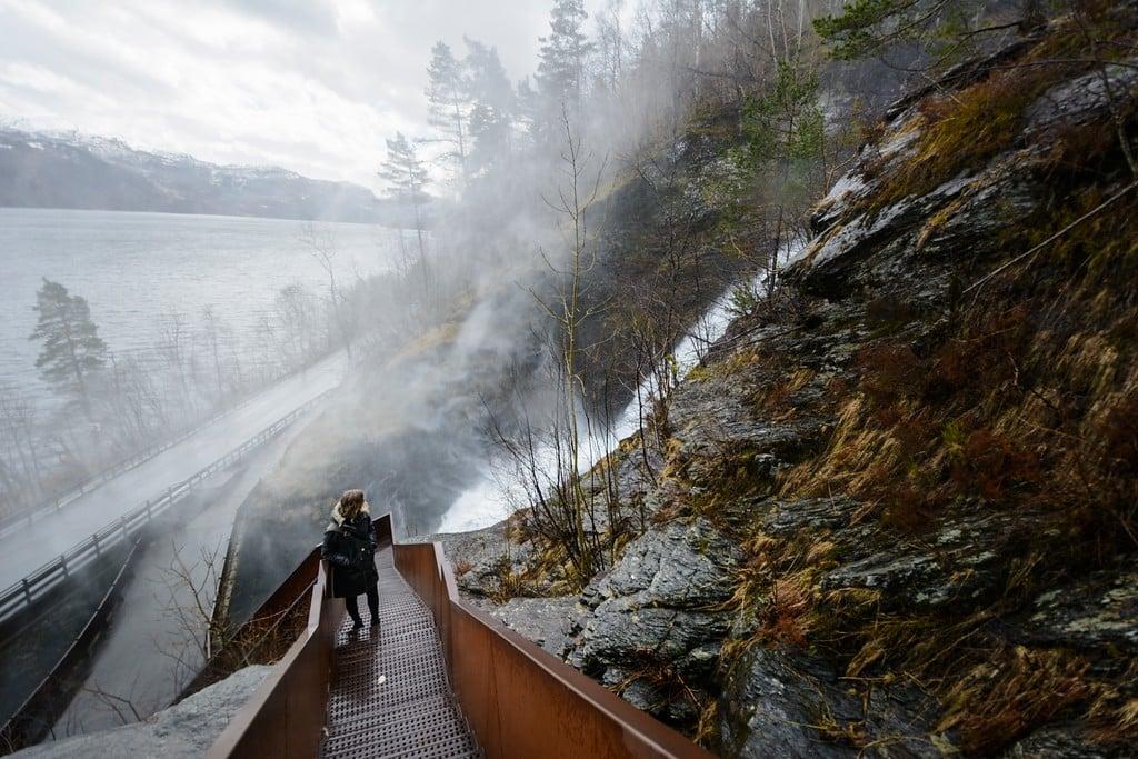 Svandalsfossen waterfall in Ryfylke