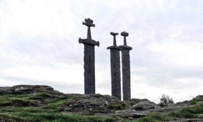 Sword sculpture in Stavanger