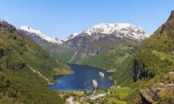 Famous viewpoint of the Geirangerfjord in Norway