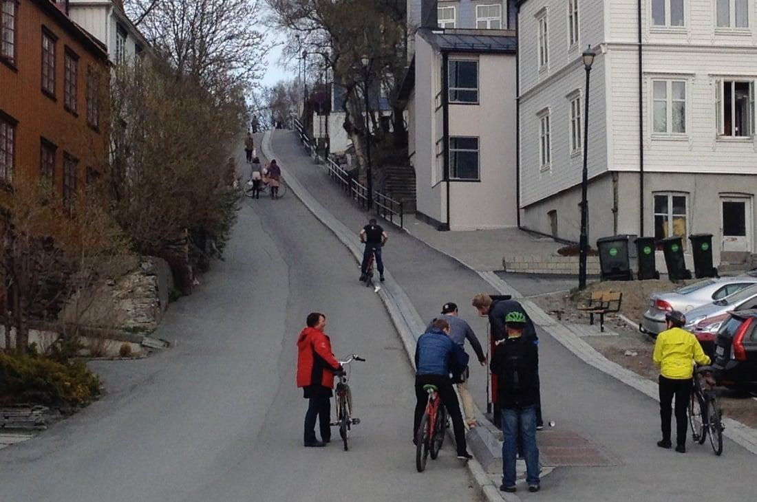 Trondheim bike lift