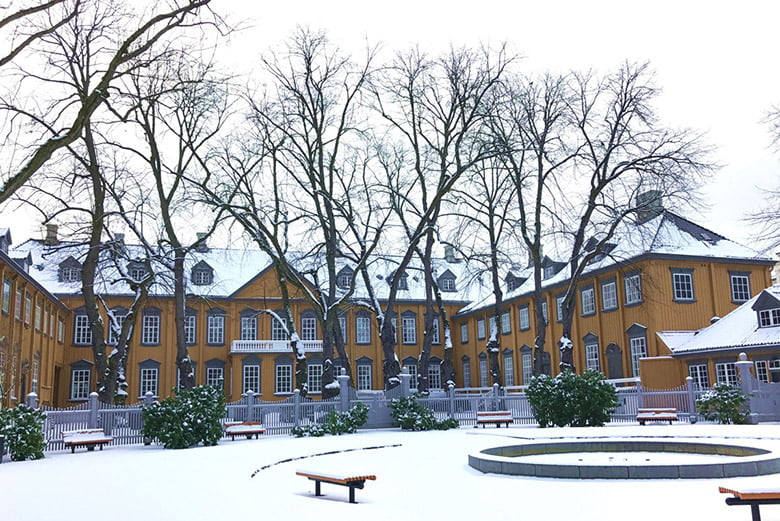 Stiftsgården in Trondheim: The Royal Residence in the snow