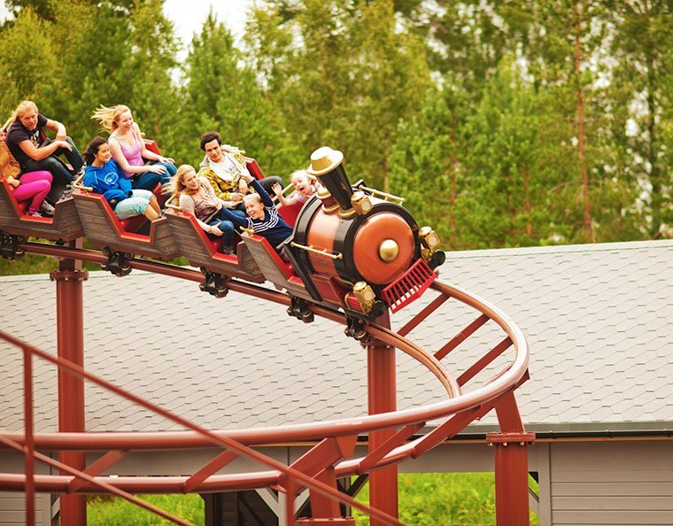 Tusenfryd theme park near Oslo, Norway