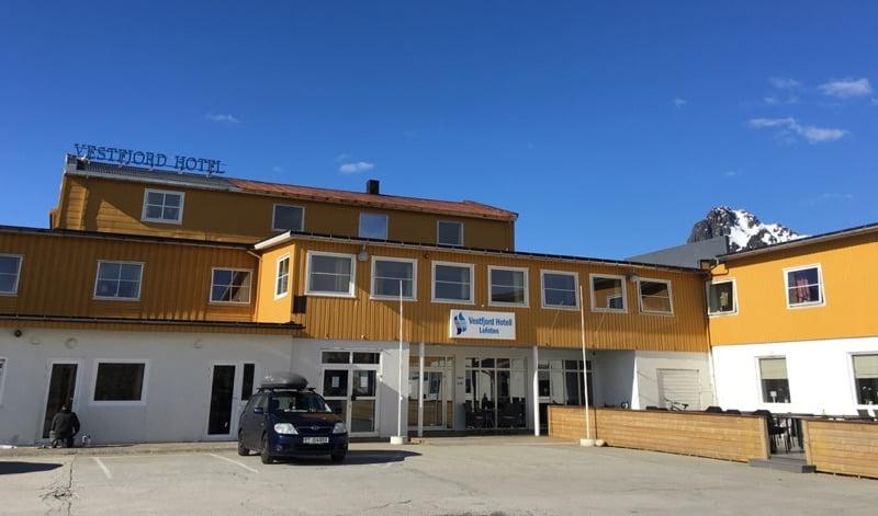 Vestfjord Hotel entrance
