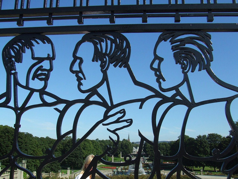 Feature gates at Vigeland Park in Oslo, Norway
